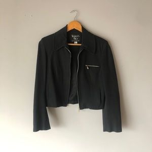Jackets & Blazers - Vintage Black Zip Jacket